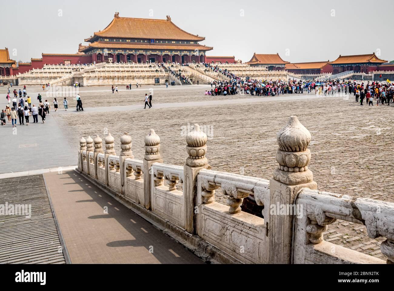 Hall de la Suprema Armonía de la Ciudad Prohibida, Pekín Foto de stock