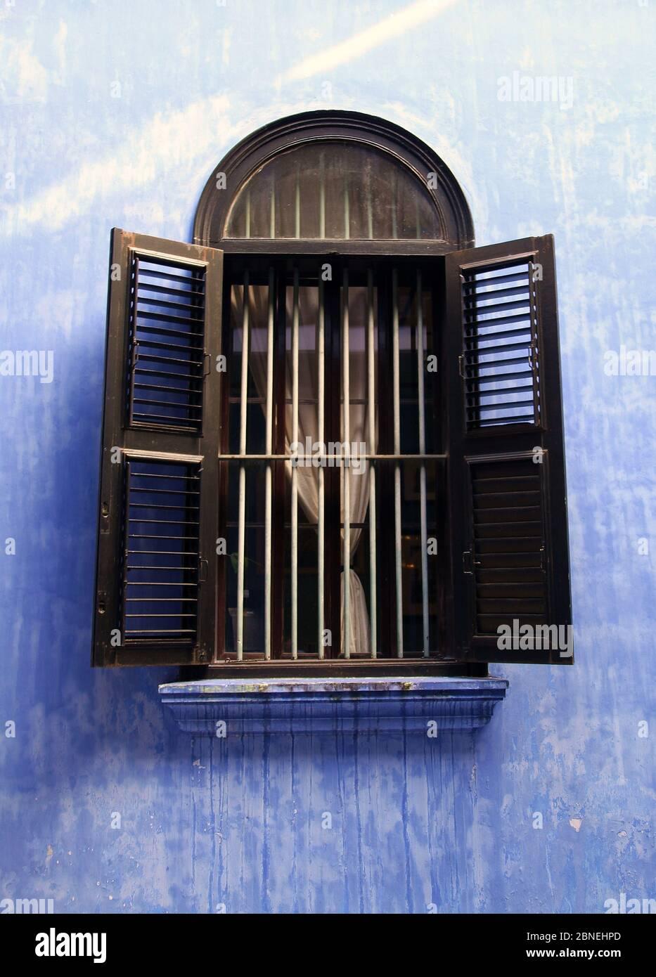 Cheong Fatt Tze Mansión en George Town en Penang que también se conoce como la Mansión Azul Foto de stock