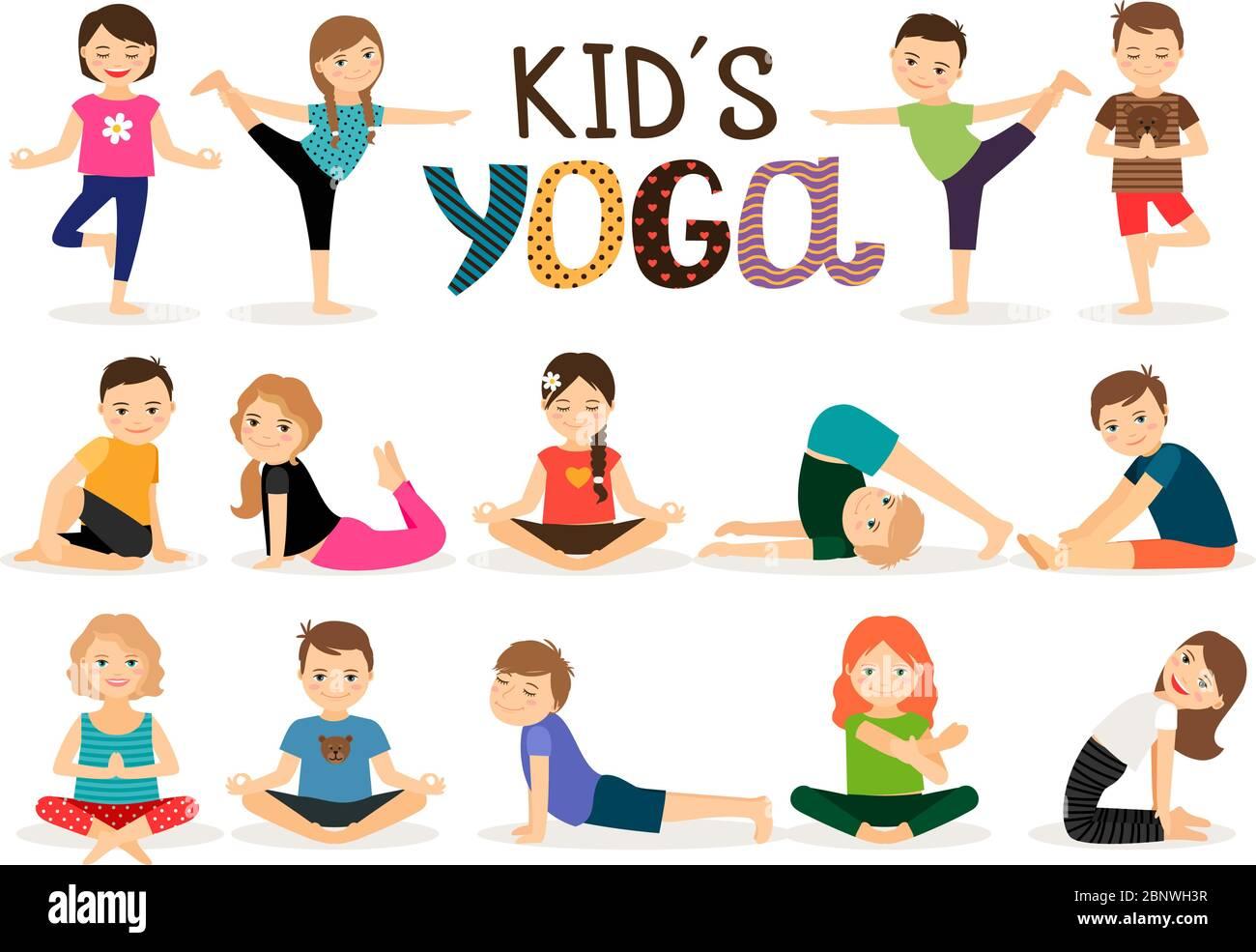 Posturas De Yoga Para Ninos Fotos E Imagenes De Stock Alamy