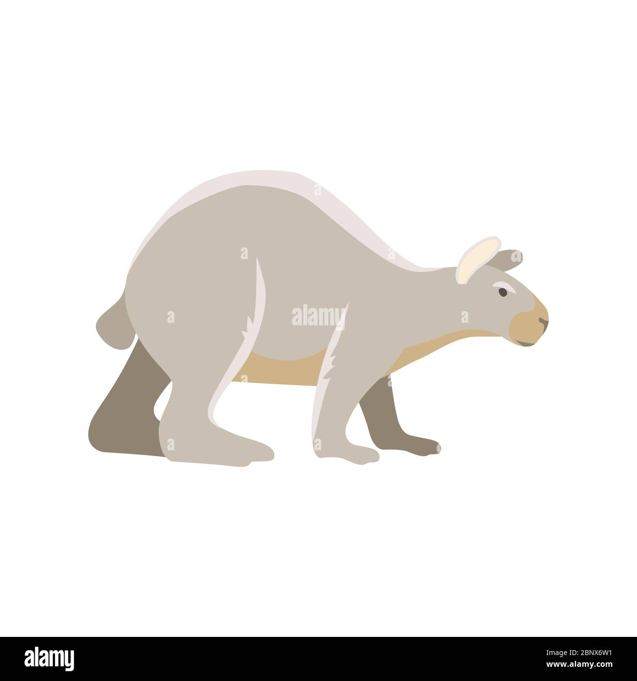 Vector dibujos animados prehistóricos antiguo mamífero hielo edad extinto animal Ilustración del Vector