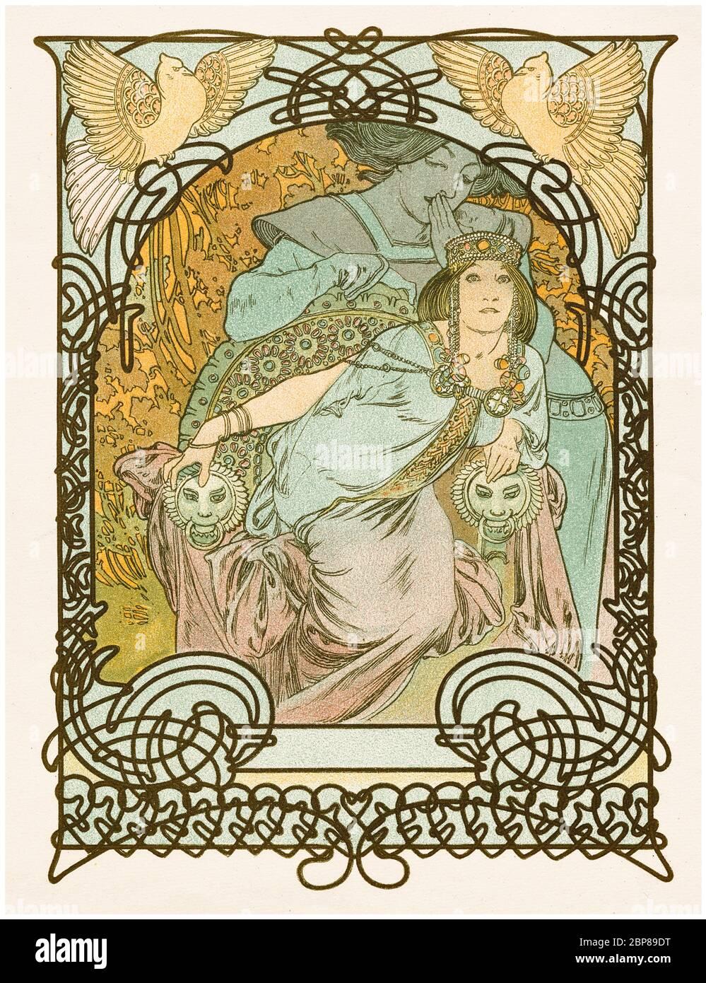 Alphonse Mucha, Ilsee: Princesse de Trípoli, cartel de estilo Art Nouveau, 1897 Foto de stock