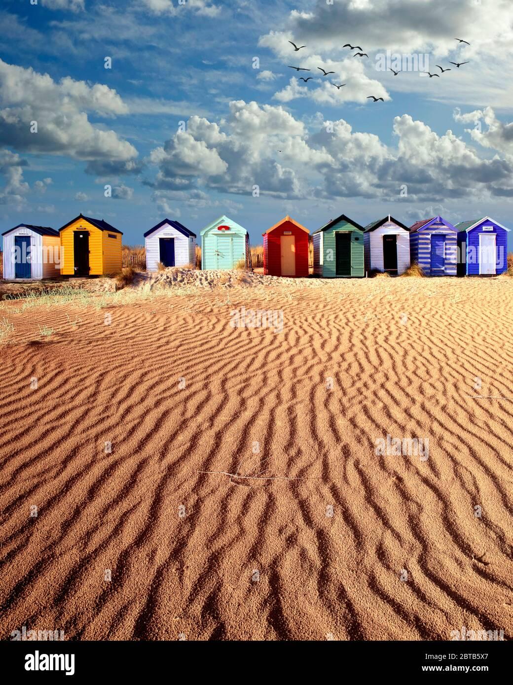 GB - SUFFOLK: cabañas de playa en Southwold Foto de stock
