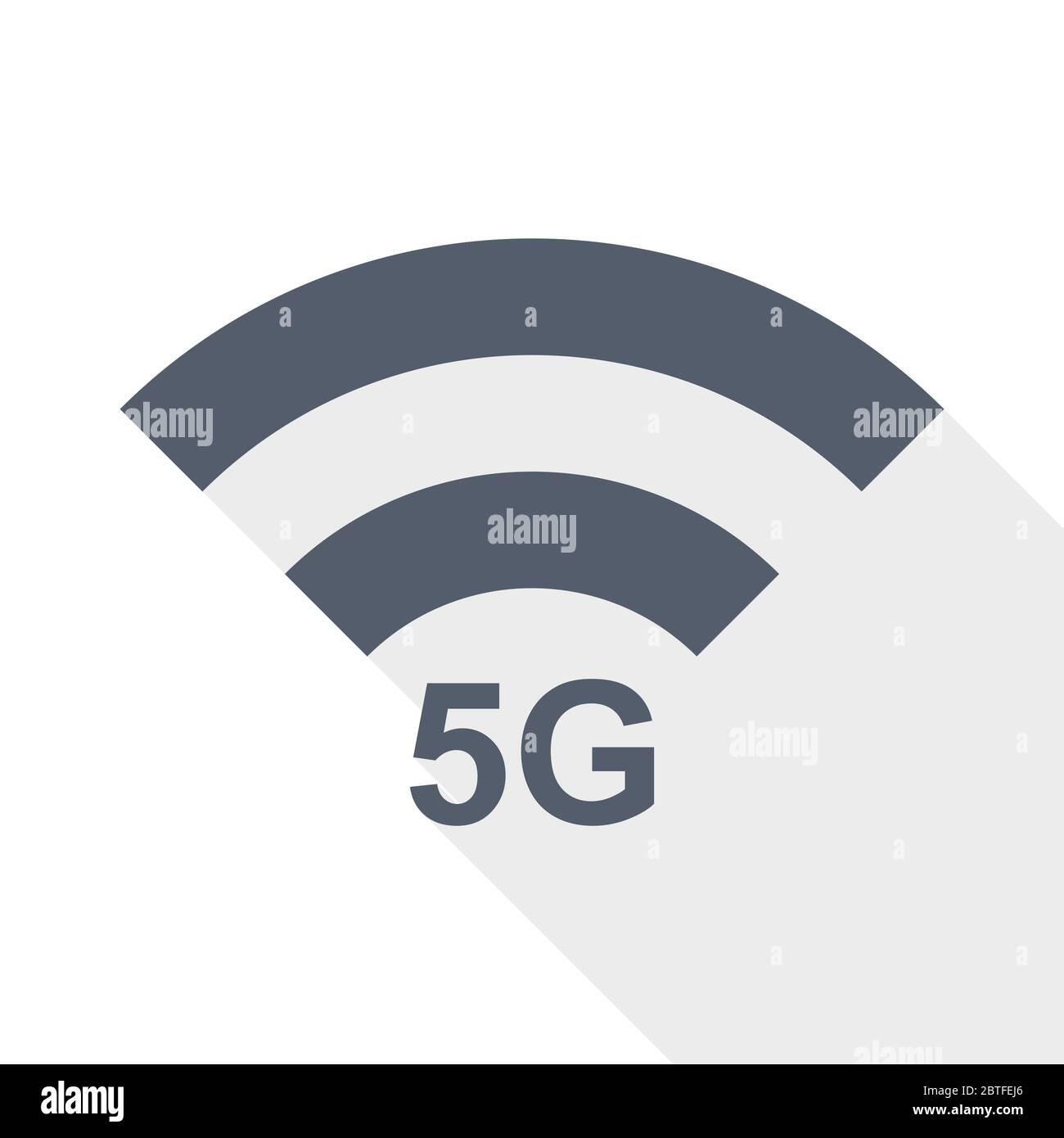 5G de comunicación inalámbrica por Internet, red de diseño plano vector icono Ilustración del Vector