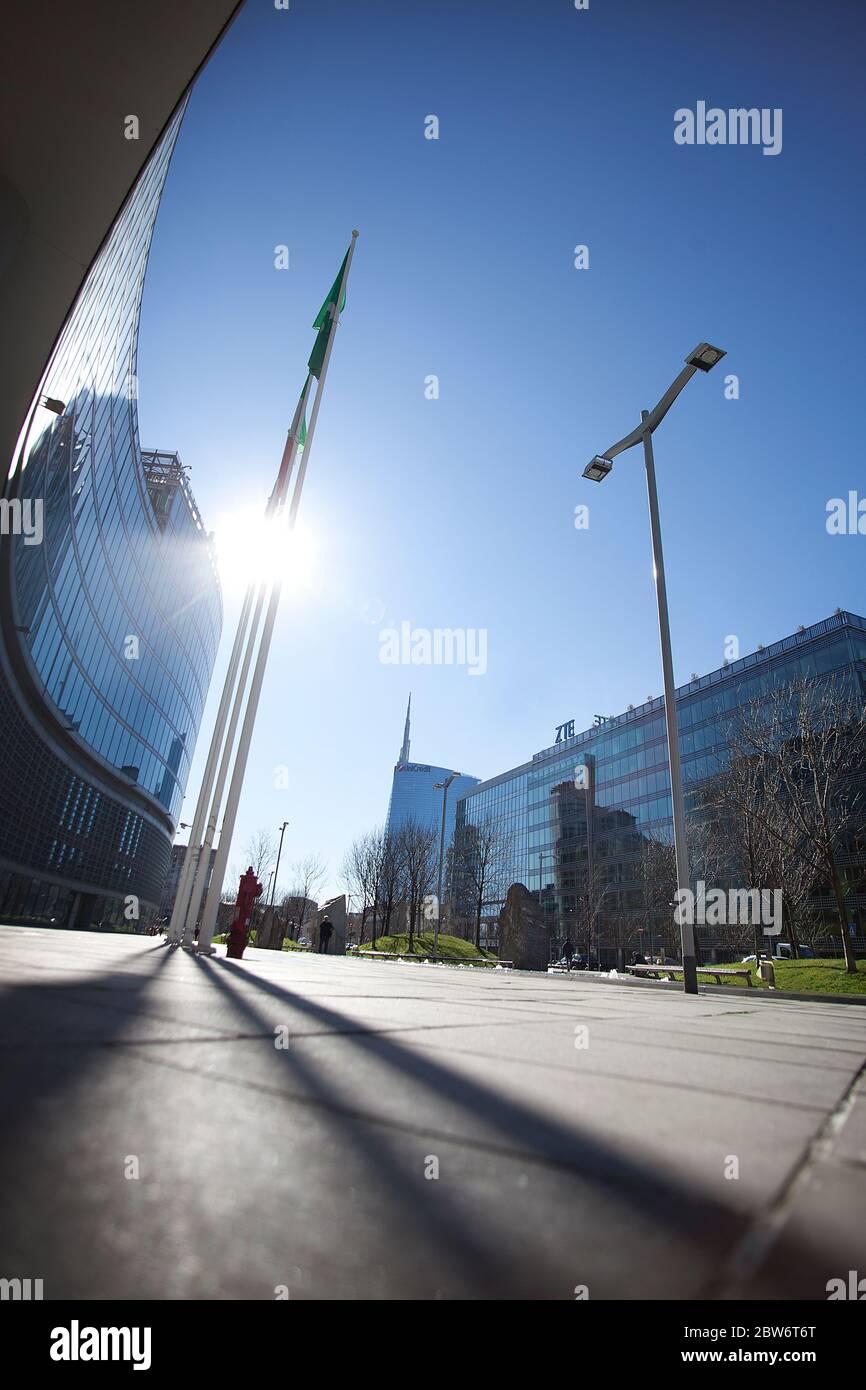 europa, italia, lombardía, milán, el edificio del gobierno regional Foto de stock
