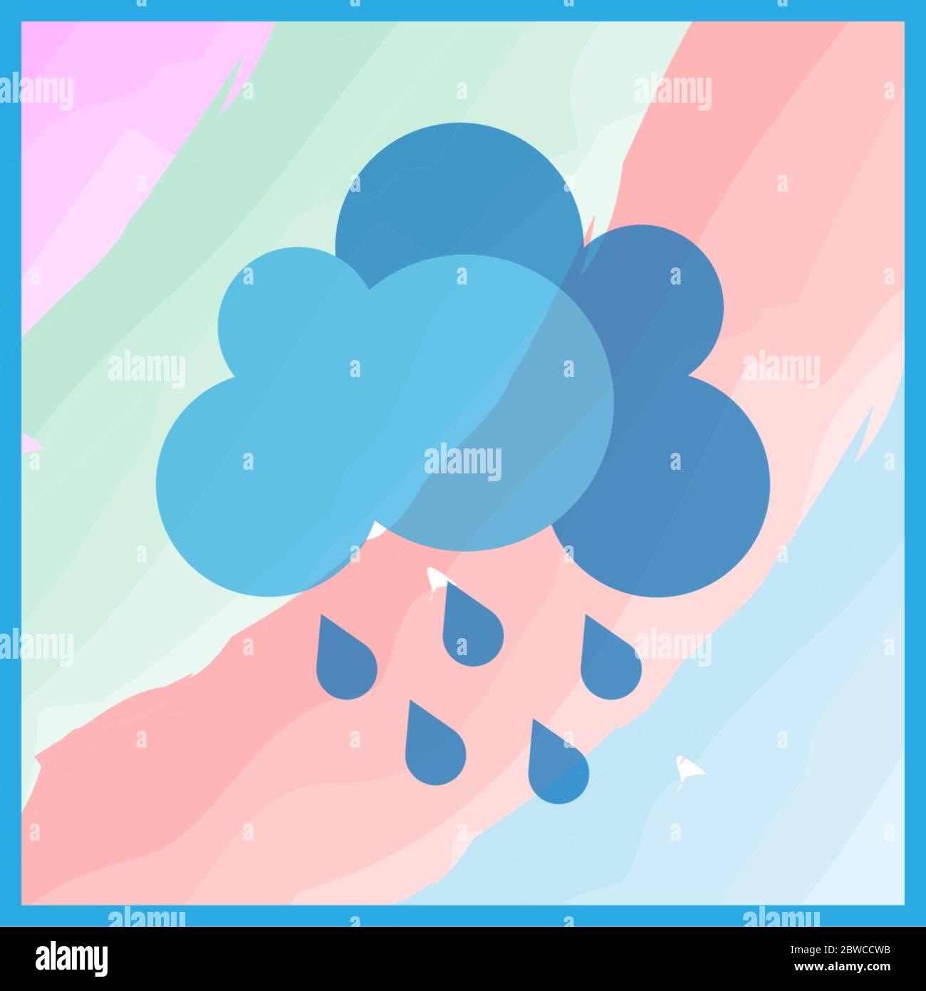Ilustración del concepto del icono de nube lluviosa Ilustración del Vector
