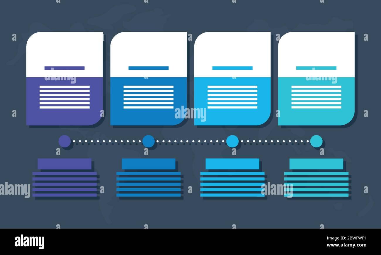 infografía de negocios con cifras cuadradas Ilustración del Vector