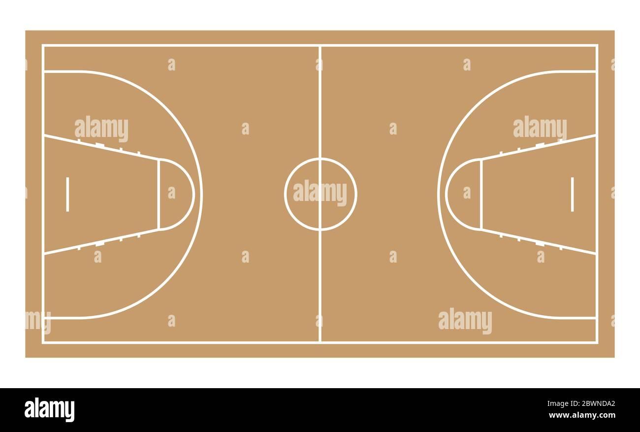 Cancha de baloncesto. Ilustración vectorial, estilo plano Ilustración del Vector