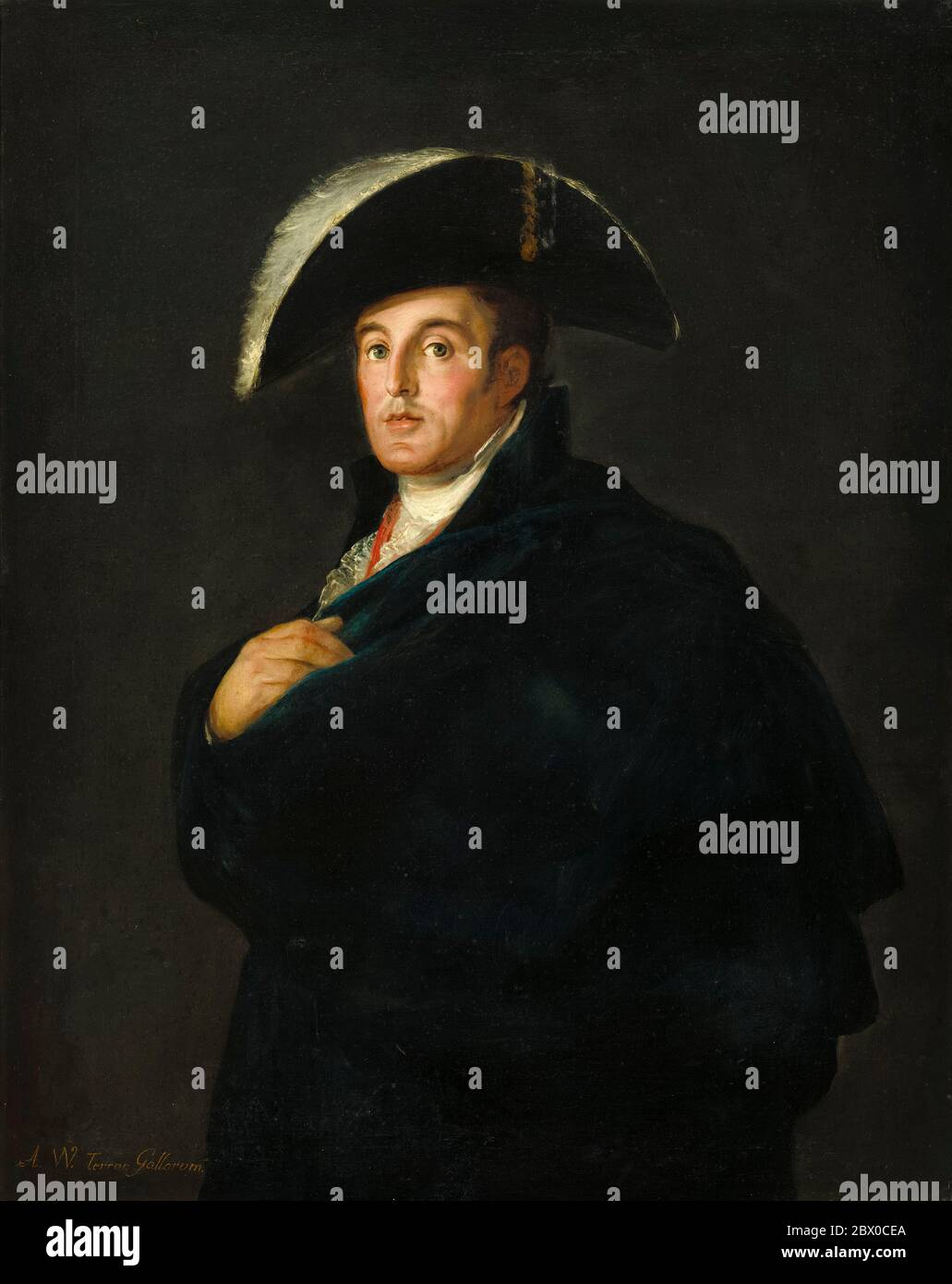 Taller de Francisco Goya, el Duque de Wellington (1769-1852), pintura de retratos, alrededor de 1812 Foto de stock