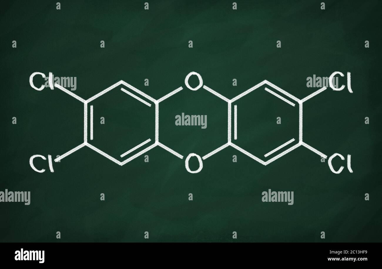 Modelo estructural DE DIOXINA Foto de stock