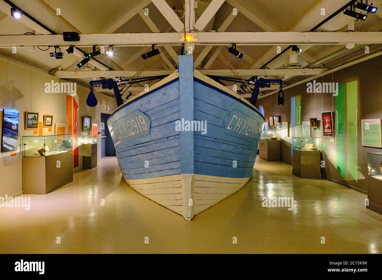 Francia, Normandía, departamento de la Mancha, Cotentin, Saint-Vaast-la-Hougue, l'île de Tatihou, museo marítimo Foto de stock