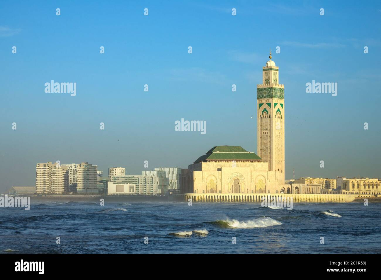 Mezquita de Hassan II en Casablanca, Marruecos Foto de stock