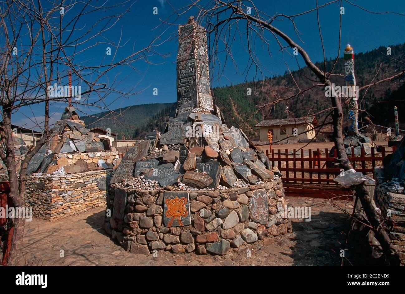 ZHONGDIAN (XIANGELILA) SHANGRI-LA, YUNNAN, MESETA TIBETANA, ALTOPIANO TIBETANO, CHINA Foto de stock