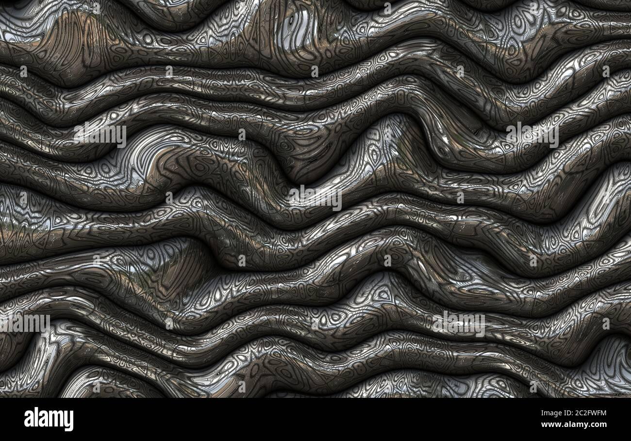 resumen futurista metal Foto de stock