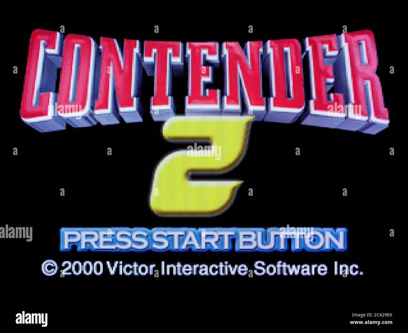 Contender 2 - Sony PlayStation 1 PS1 PSX - solo para uso editorial Foto de stock