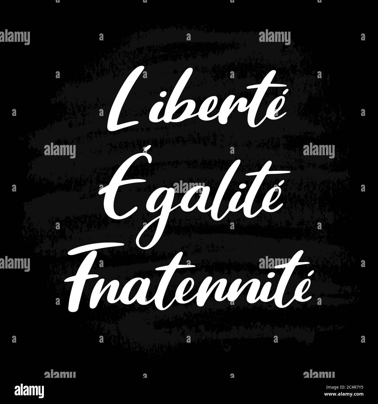 14 De Julio La Cita De La Hermandad De La Igualdad De La Libertad En Francés