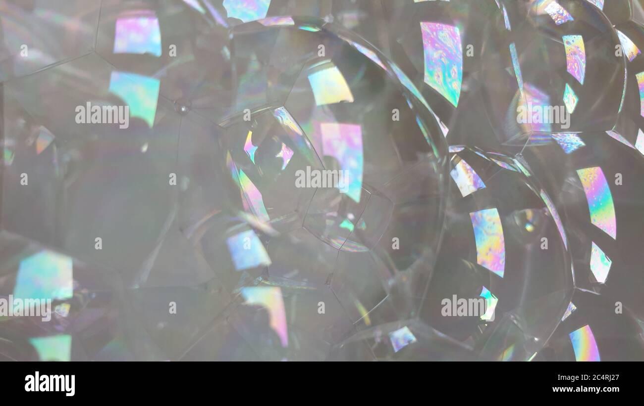 Burbujas en primer plano Foto de stock