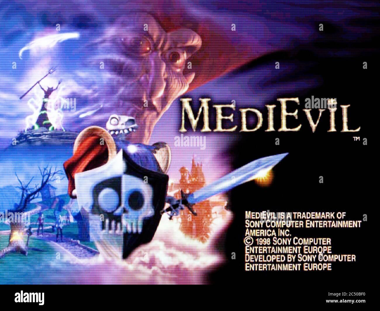 MediEvil - Sony PlayStation 1 PS1 PSX - solo para uso editorial Foto de stock