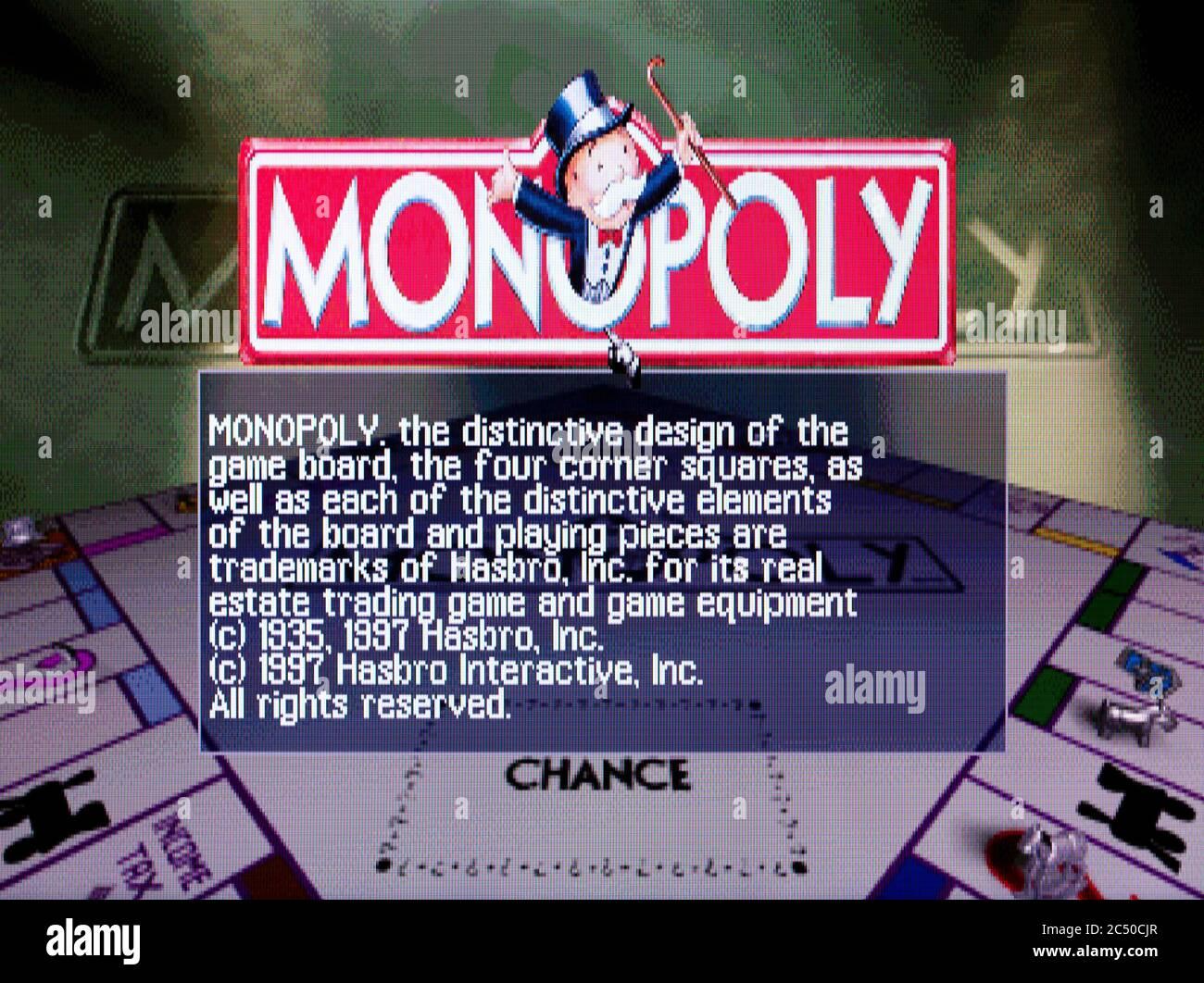 Monopoly - Sony PlayStation 1 PS1 PSX - solo para uso editorial Foto de stock
