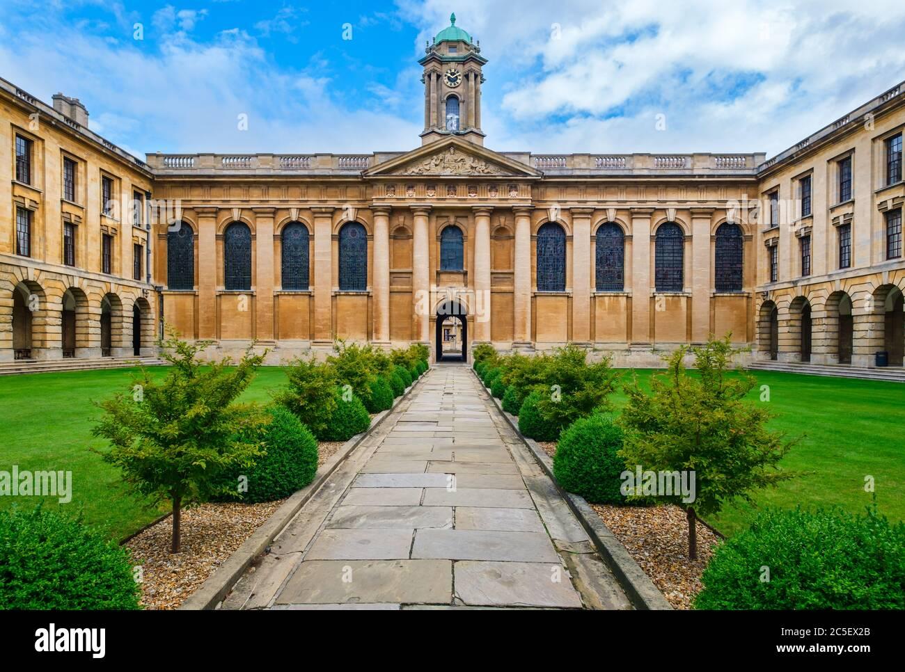 El Queen's College de la Universidad de Oxford Foto de stock