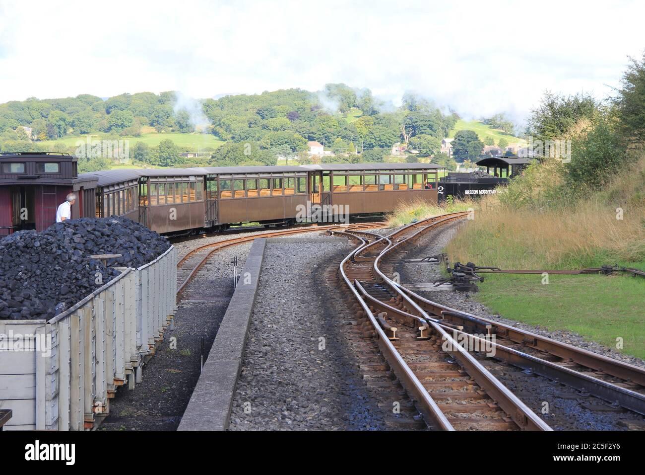 Tren de montaña Brecon en Glamourgan. Gales Foto de stock