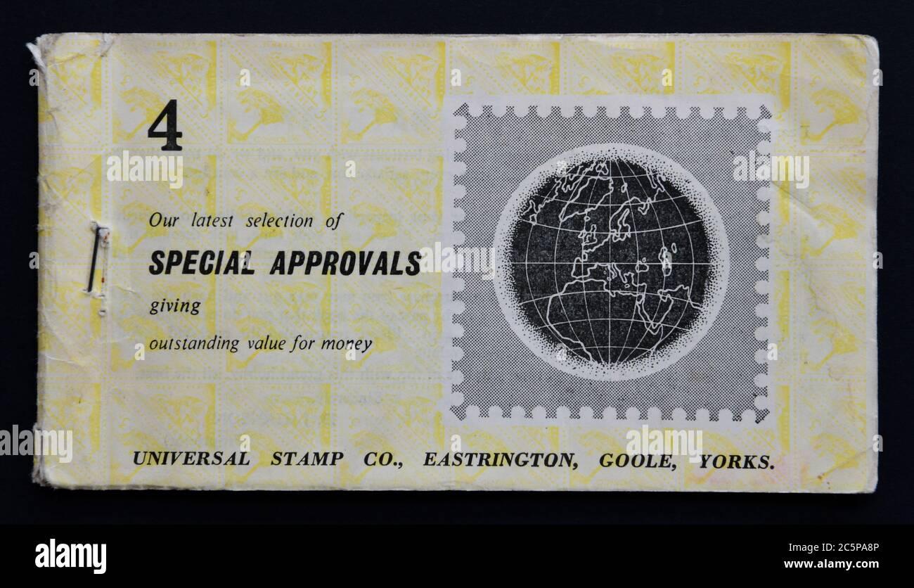 Sello Universal Co Eastrington por Dennis J Hanson sello folleto de aprobaciones Especiales - Reino Unido Foto de stock