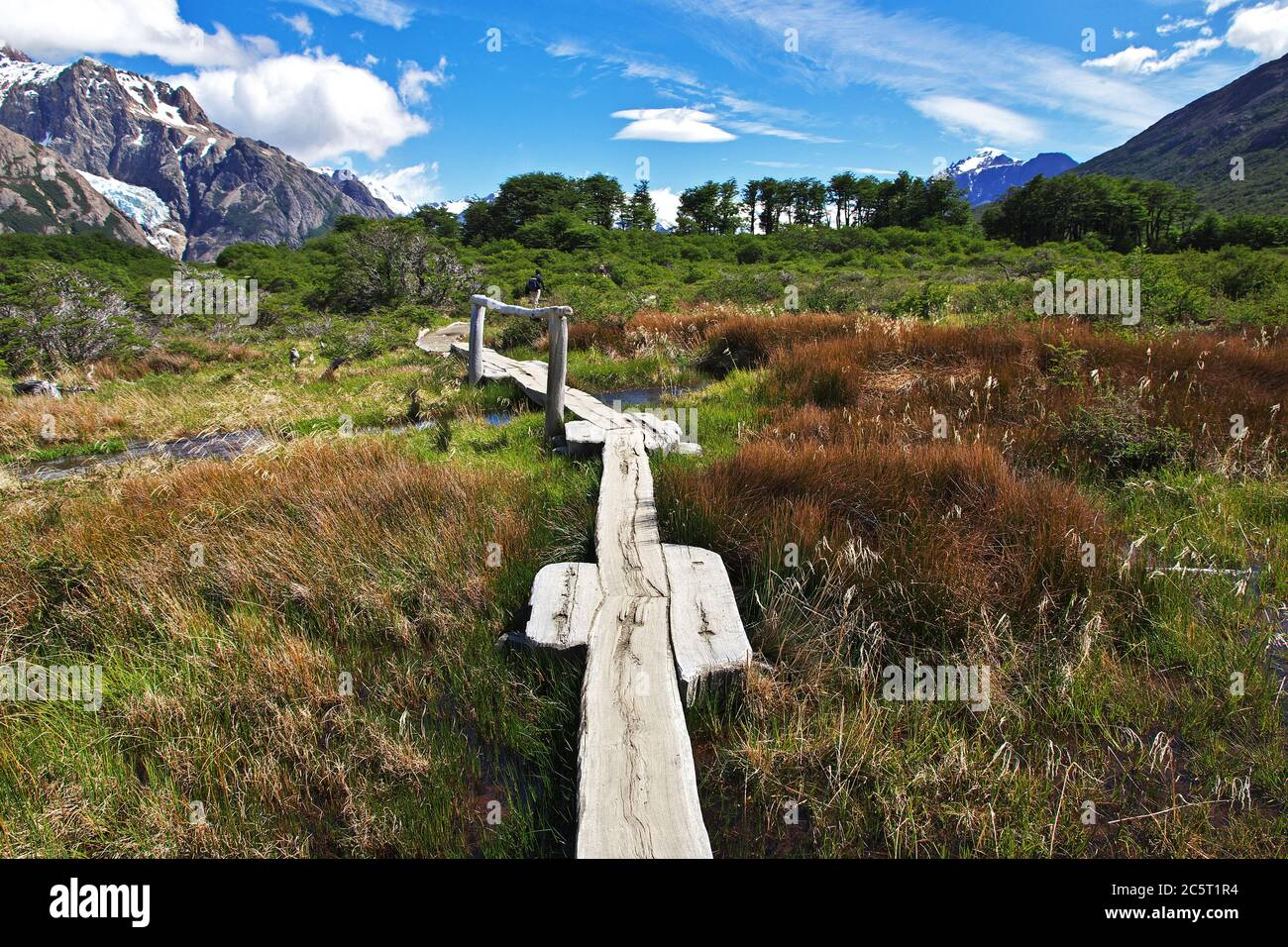 Trekking a Fitz Roy, el Chalten, Patagonia, Argentina Foto de stock