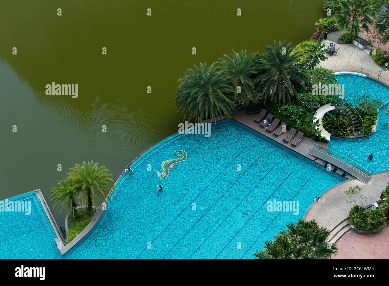 El Haven Hotel Resort es un refugio situado en Ipoh, Malasia, ubicación tranquila rodeado de lago y bosques Foto de stock