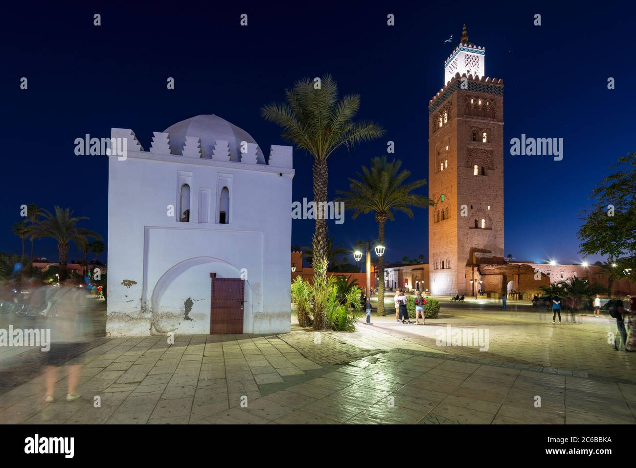 Mezquita Koutoubia, Sitio del Patrimonio Mundial de la UNESCO, Marrakech (Marrakech), Marruecos, Norte de África, África Foto de stock