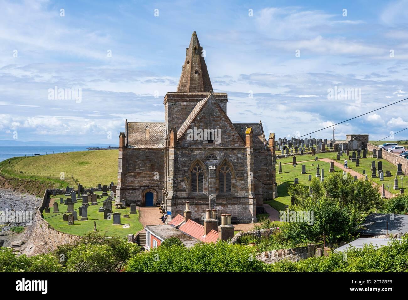 St Monans Parroquia de St Monans en East Neuk de Fife, Escocia, Reino Unido Foto de stock