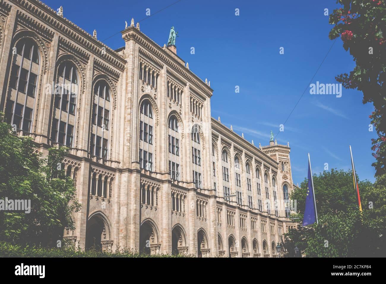 Gobierno de Alta Baviera, administración, edificio. Foto de stock