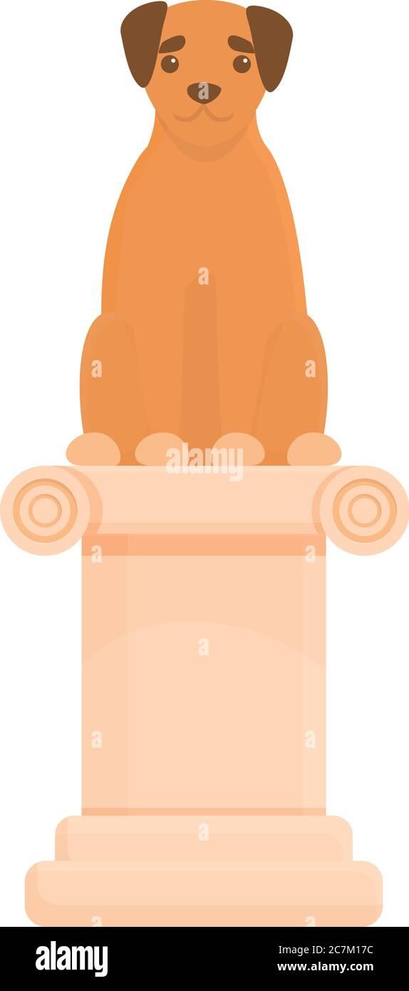 Icono de columna de exposición de perros. Dibujo animado de la exposición de perro columna icono vector para diseño web aislado sobre fondo blanco Ilustración del Vector
