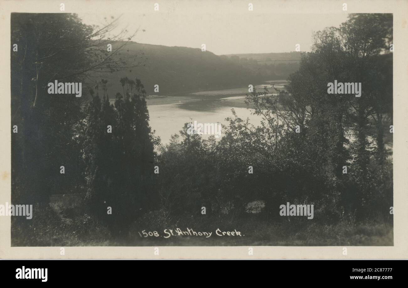 The Creek, St Anthony's on the Creek, ManaccanHelston, Cornwall, Inglaterra. Foto de stock
