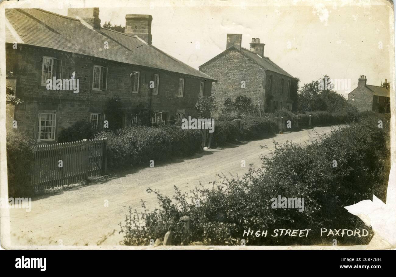 High Street, Paxford, Blockley, Chipping Campden, Gloucestershire, Inglaterra. Foto de stock