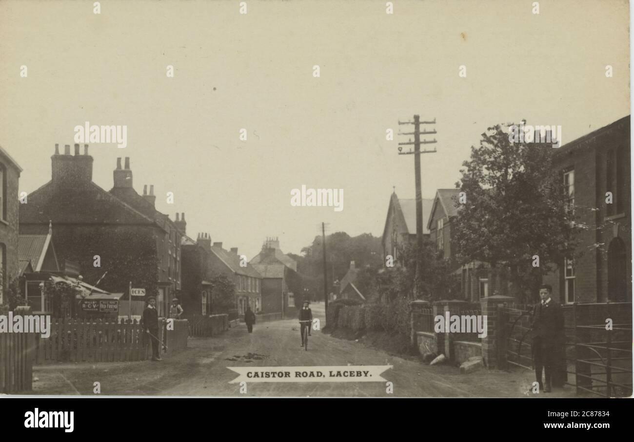 Caistor Road, Laceby, Grimsby, Lincolnshire, Inglaterra. Foto de stock