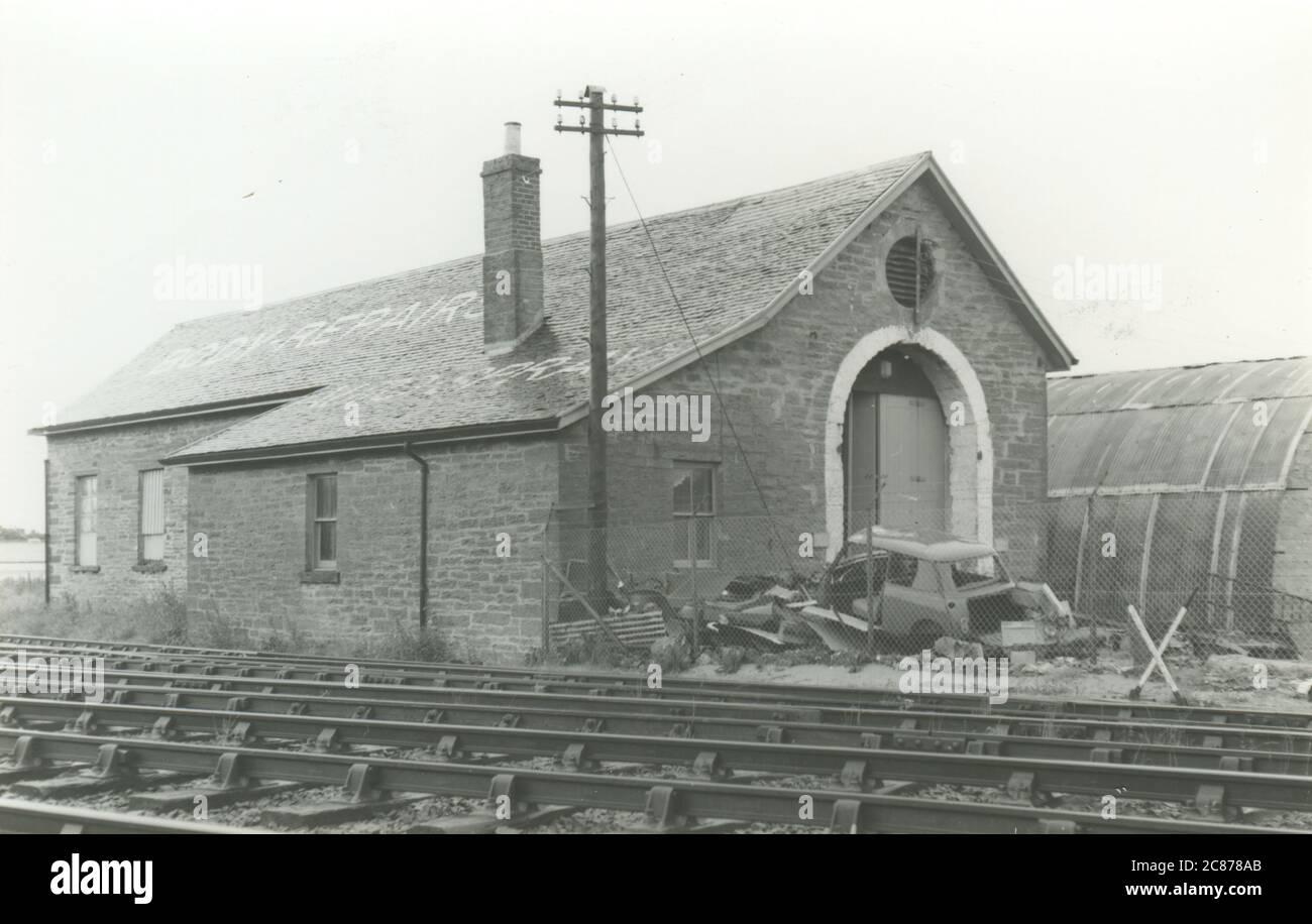 Establo de motor ferroviario - (Highland Railway), Thurso, Caithness, Escocia. Foto de stock