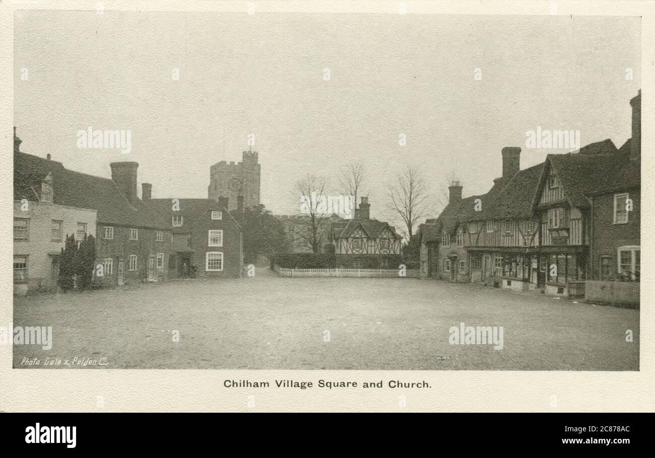 The Square, Chilham, Canterbury, Kent, Inglaterra. Foto de stock