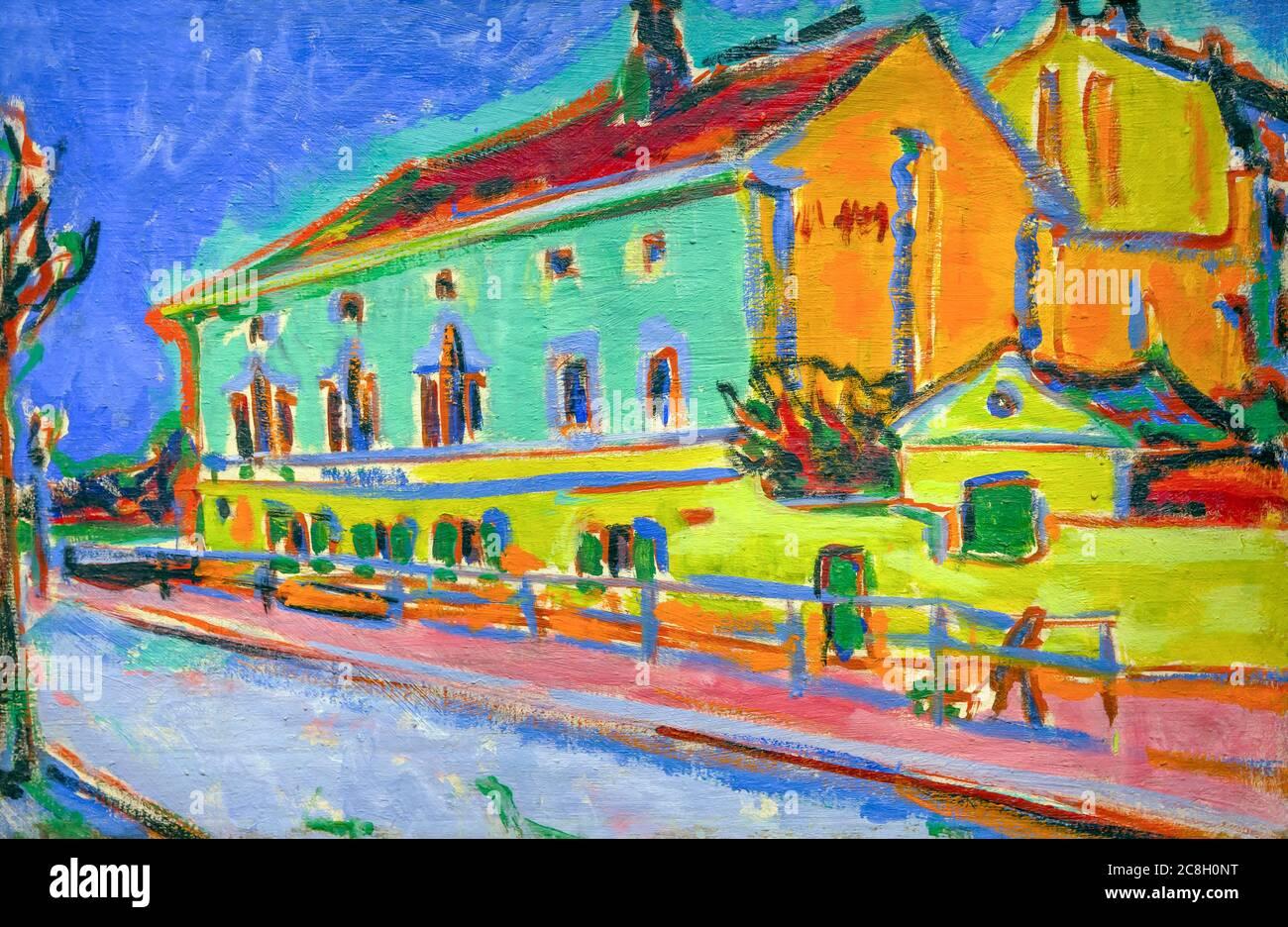Dance Hall Bellevue, (anverso), Ernst Ludwig Kirchner, 1909-1910, National Gallery of Art, Washington DC, EE.UU., Norteamérica Foto de stock