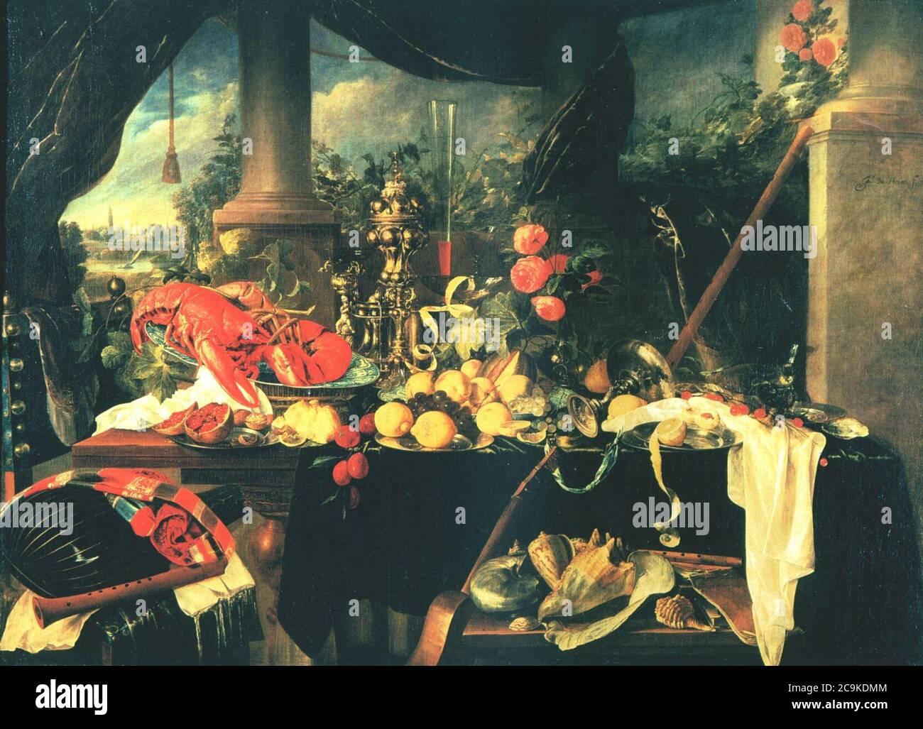 Jan-Davidsz-de-Heem-006. Foto de stock