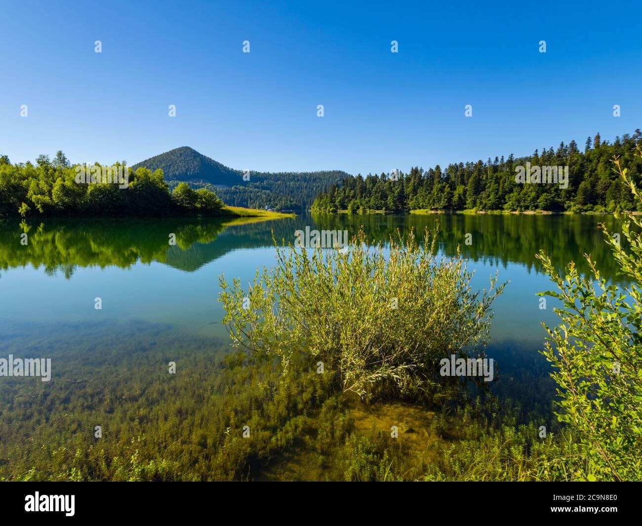 Hermosa naturaleza del lago Lokve en Croacia Europa Foto de stock