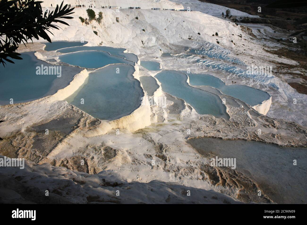 Pamukkale, sinter terrazas Turquía Foto de stock