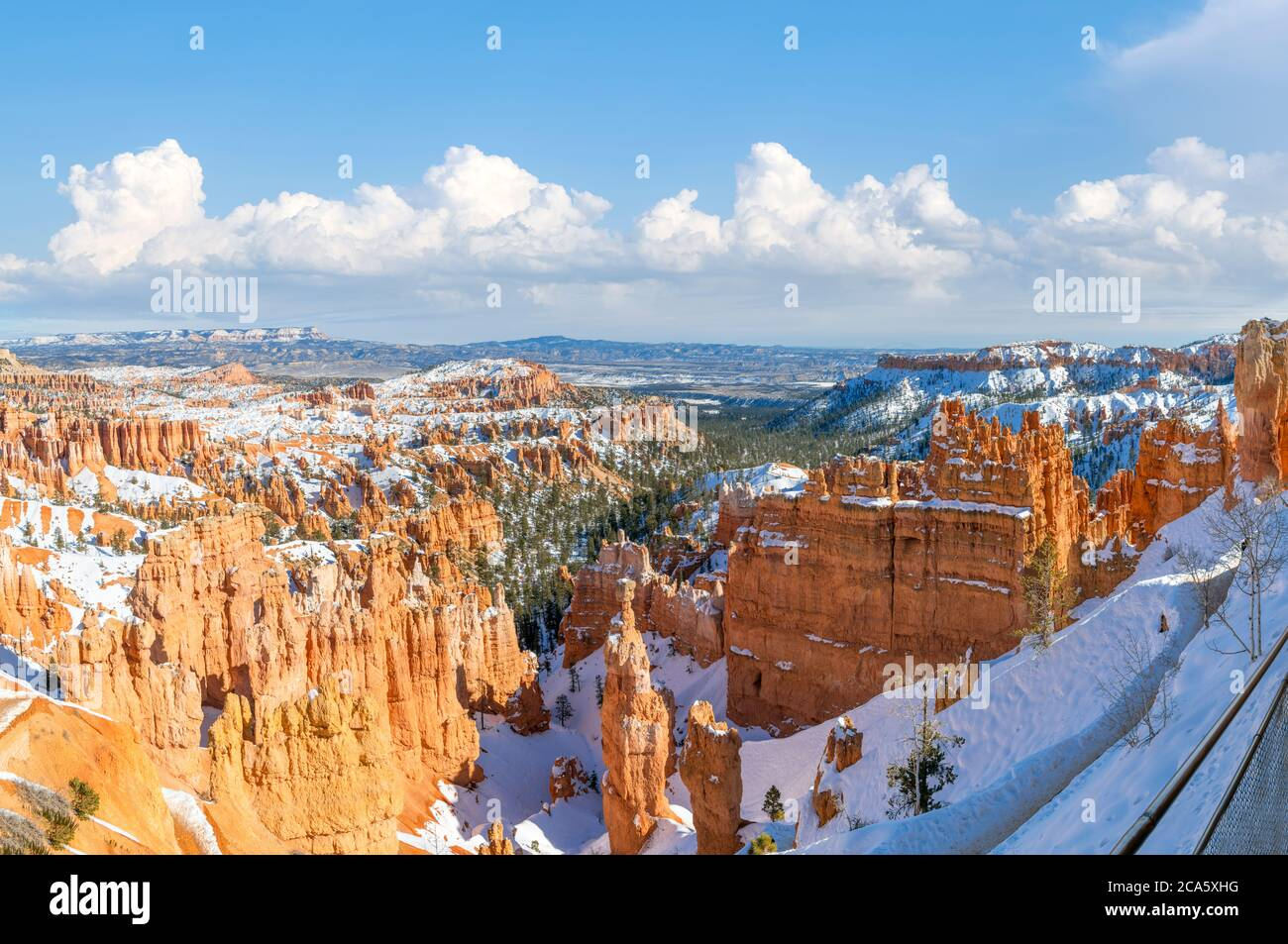 Bryce Amphitheater from the Rim Trail con Thor's Hammer en primer plano, Sunset Point, Bryce Canyon National Park, Utah, EE.UU Foto de stock