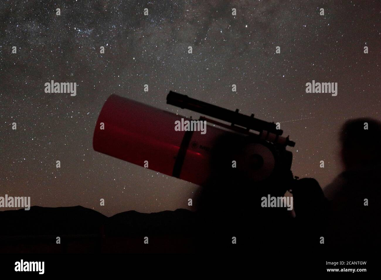 """Turismo Astronómico"" - Observatorio del Pangue, cerca de Vicuna, La Serena, centro de Chile 12 Oct 2017 Foto de stock"