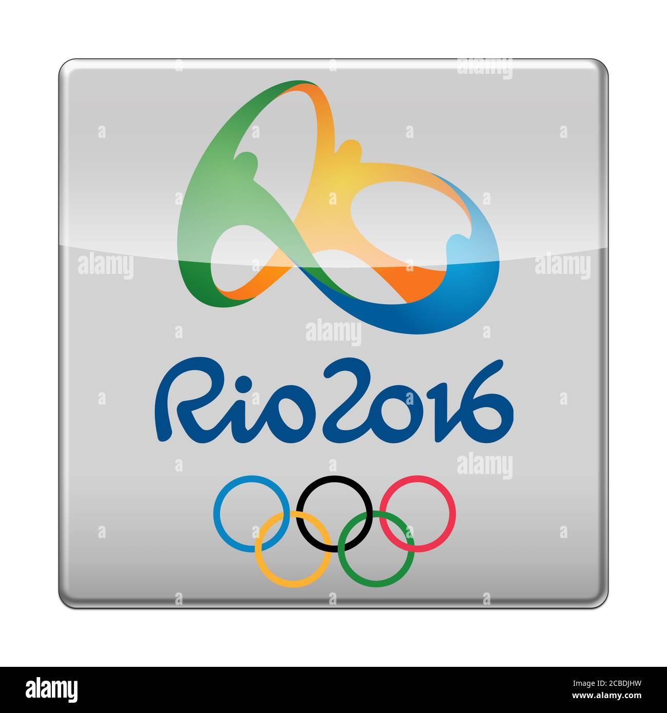 Olimpiadas de Verano de 2016 en Brasil Foto de stock
