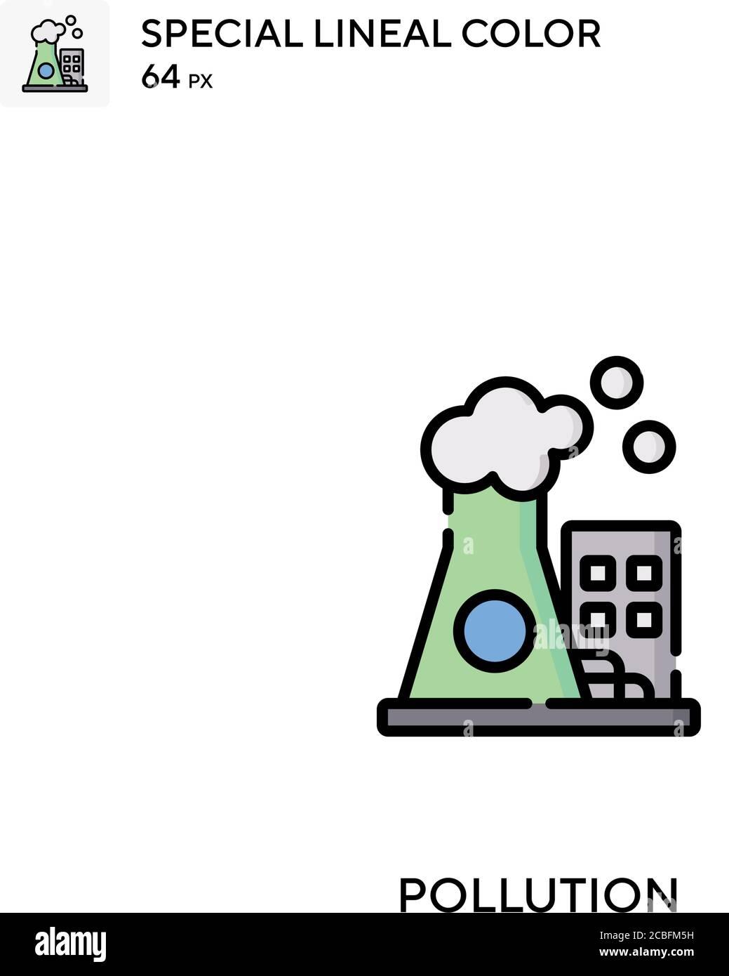 Contaminación simple vector icono. Iconos de contaminación para su proyecto de negocio Ilustración del Vector