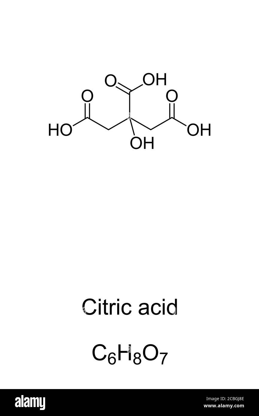acido-citrico-estructura-quimica-y-formu