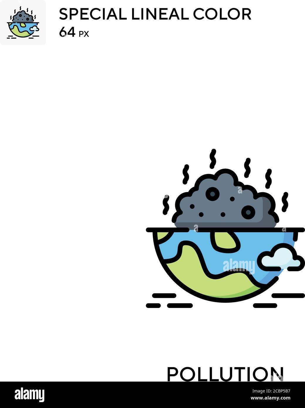 Contaminación icono de vector de color lineal especial. Iconos de contaminación para su proyecto de negocio Ilustración del Vector