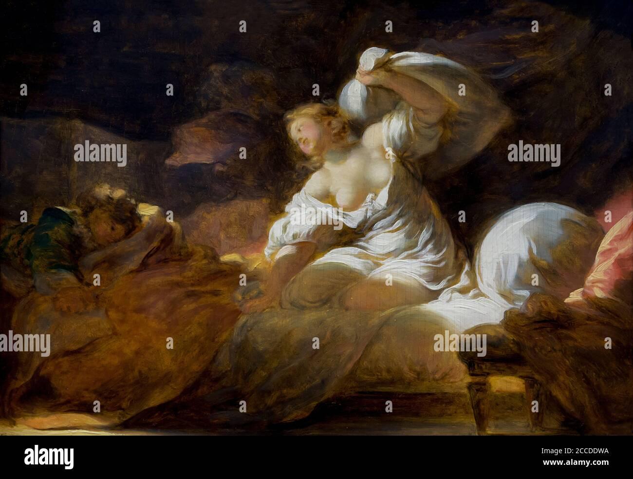La resistencia inútil, Jean Honore Fragonard, alrededor de 1770, los Museos de Bellas Artes de San Francisco, San Francisco, California, EE.UU., América del Norte Foto de stock