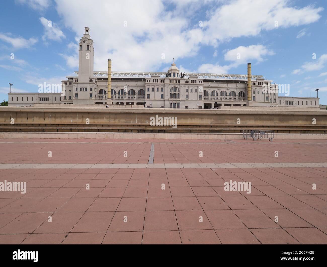 Estadio Olímpico de la ciudad de Barcelona en el barrio de Cataluña en España Foto de stock