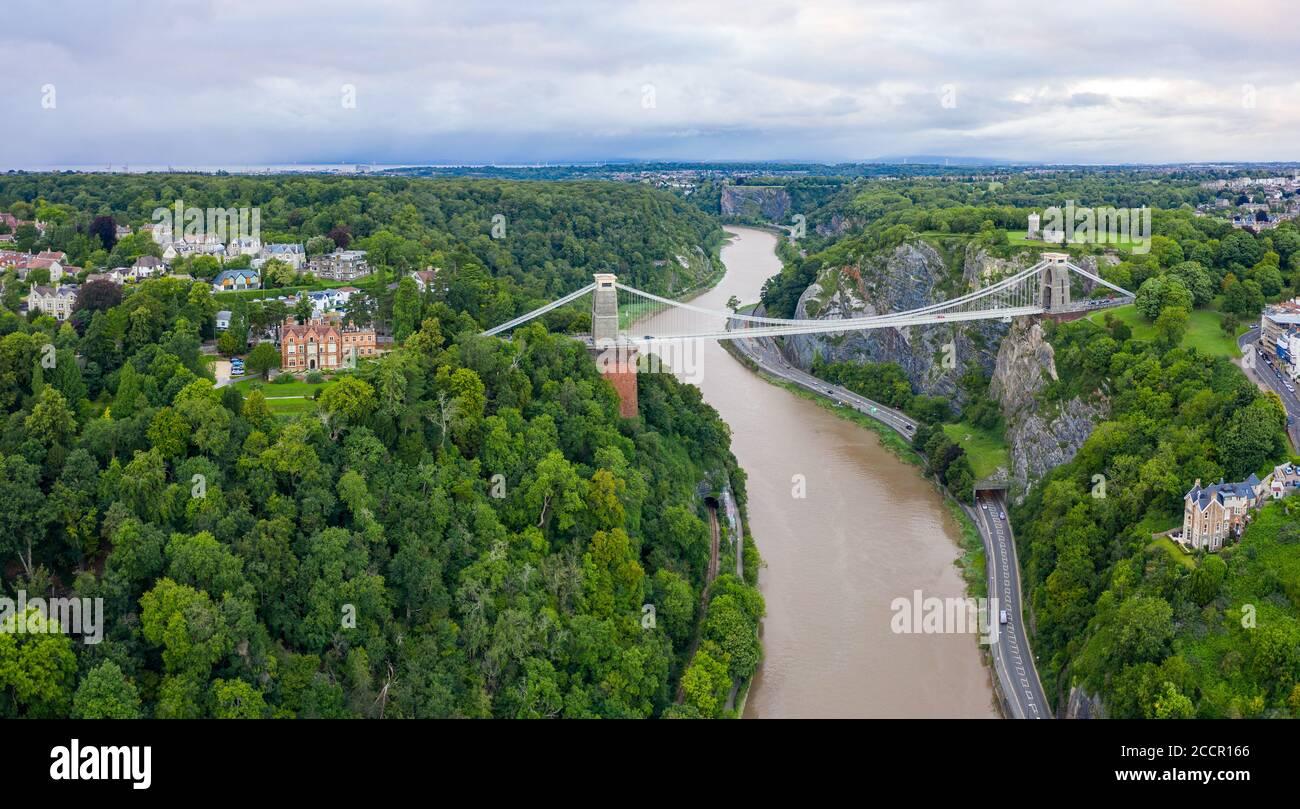 Puente de la suspensión de Clifton, en Bristol, Inglaterra, Reino Unido Foto de stock