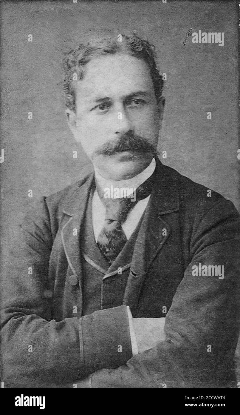 Joaquim Nabuco -bacharrel em 1870, embaixador, abolicionista, escritor-. (Col. Francisco Rodrigues; FR-732). Foto de stock